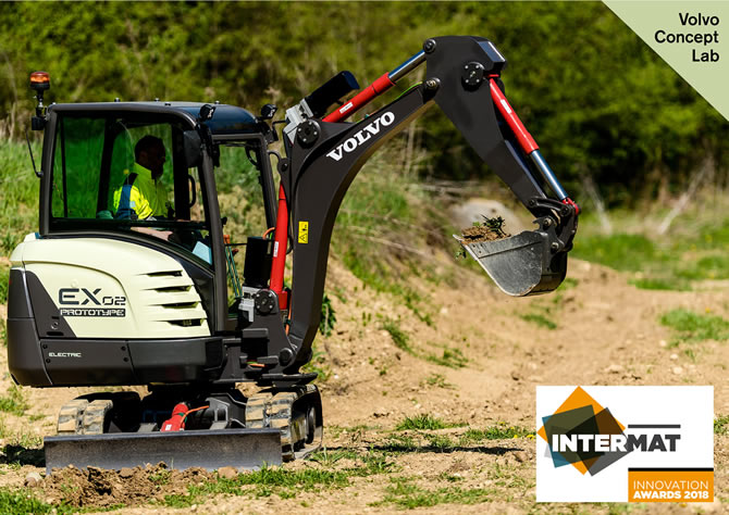 Volvo's Fully-Electric Compact Excavator Prototype Wins Award